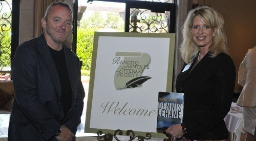 Author Dennis Lehane with chapter coordinator Kelly Colvard (Photo: Rob McKenzie)