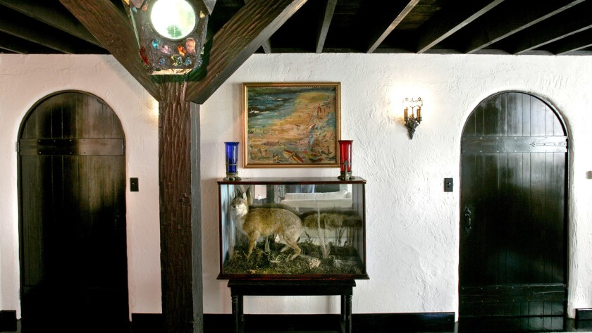 Sometimes personal items freak out potential buyers. Experts suggest putting taxidermy subjects out
