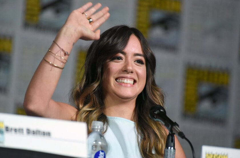"""Chloe Bennet at the Marvel panel for """"Agents of S.H.I.E.L.D."""" at Comic-Con International."""