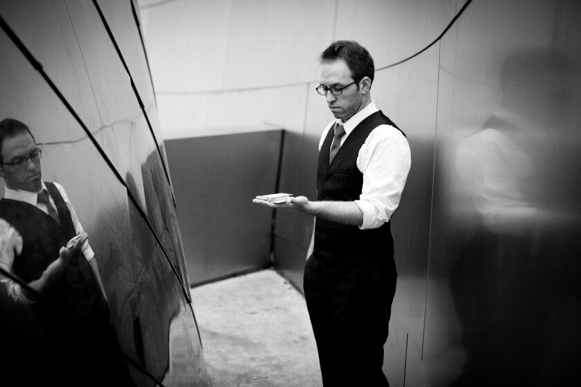 """Helder Guimarães wrote, directs and performs in """"Borrowed Time,"""" an intimate, immersive magic show held in a secret location."""