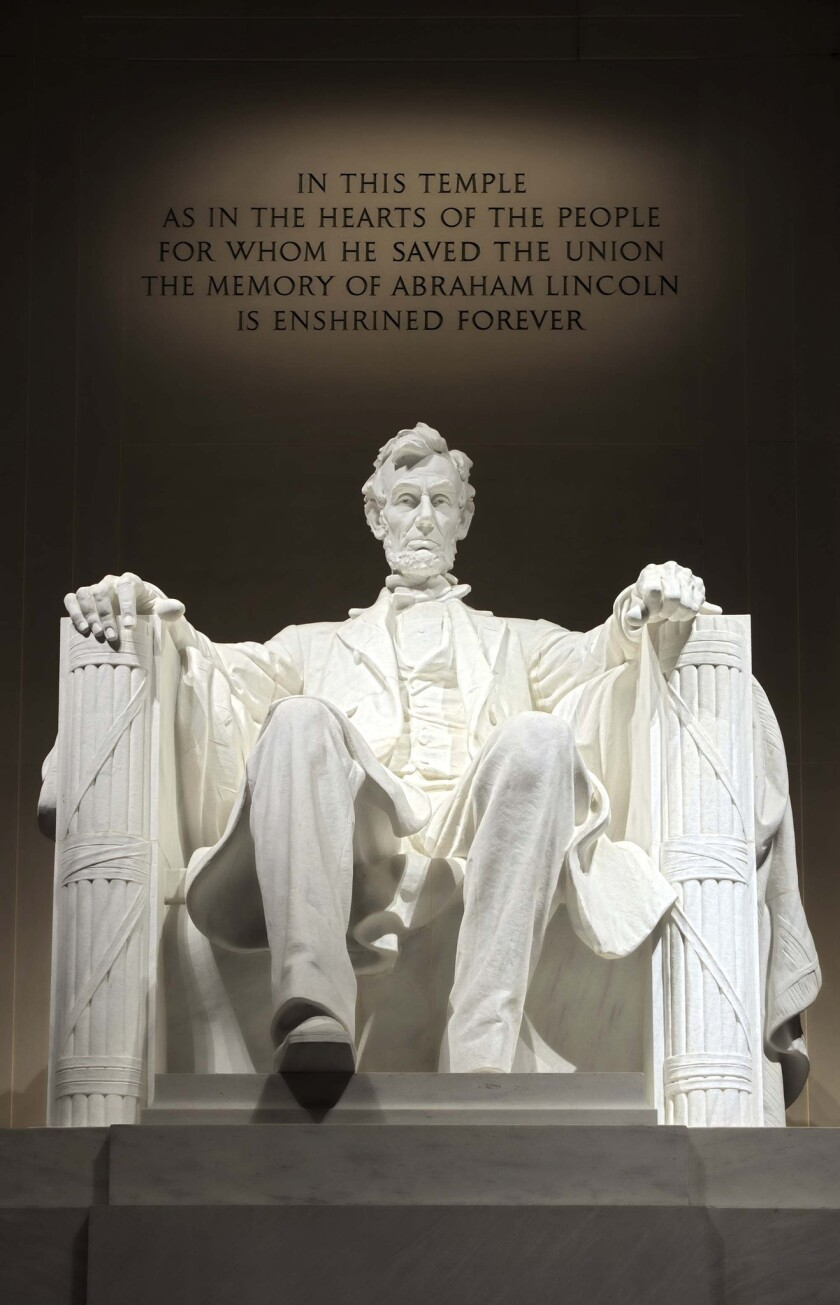 A photo of the Lincoln Memorial in Washington, D.C.