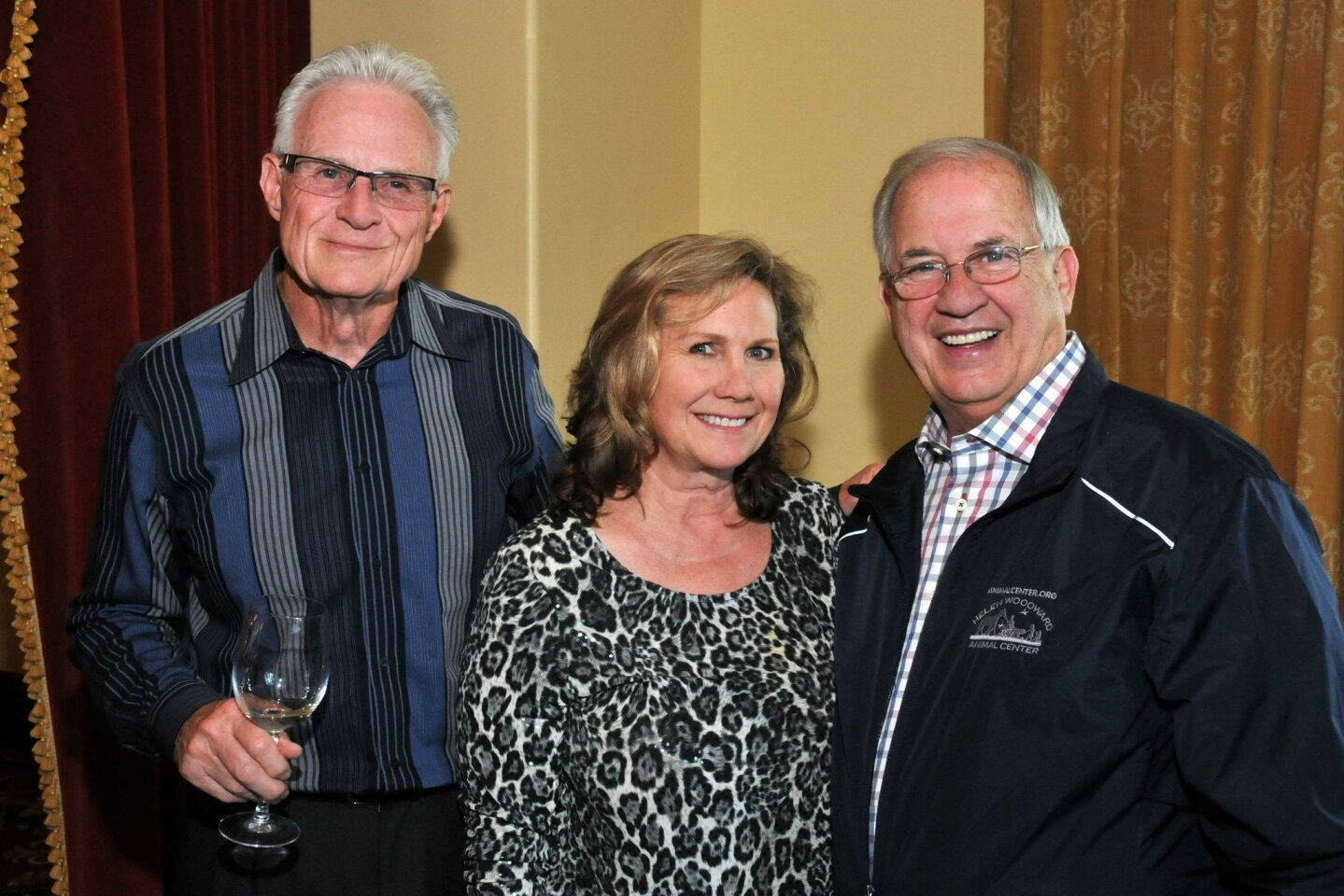 Jim Hooker (HWAC board), Ann Dizney (event chair; will also chair June 4 Spring Fling), Mike Arms (HWAC President/CEO)