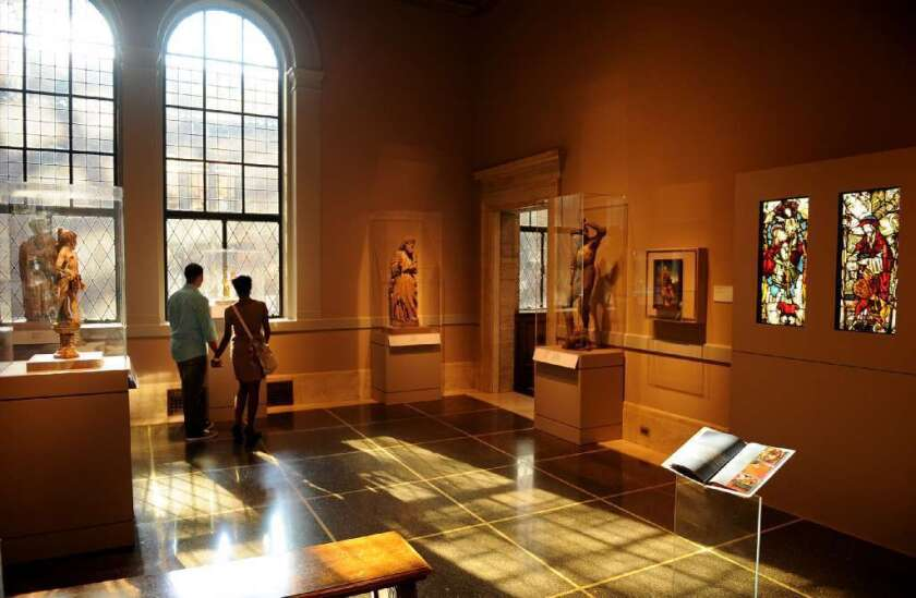 A gallery at the Detroit Institute of Arts.