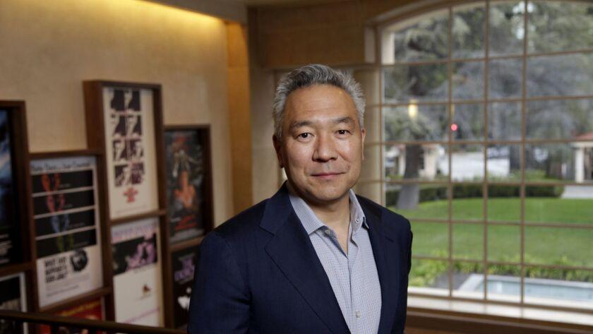 Warner Bros. former Chief Executive Kevin Tsujihara at the studio's headquarters in Burbank.