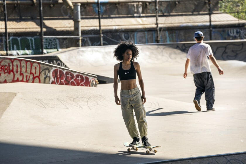 """Ardelia """"Dede"""" Lovelace is one of a crew of girl skaters making New York their own in the HBO series """"Betty."""""""