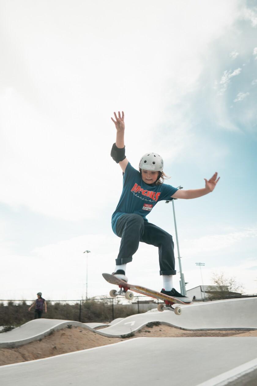 Eli Smith, an 11-year-old rider