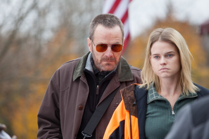"""Bryan Cranston and Alice Eve in """"Cold Comes the Night."""""""