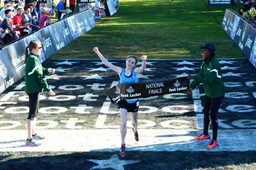 Tessa Barrett of Waverly, Pa., easily won the girls race at Morley Field.