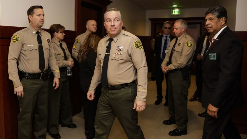 L.A. County Sheriff Alex Villanueva, who has talked about being unfairly disciplined as a deputy, has said he believes his predecessor opened too many administrative investigations of employees.