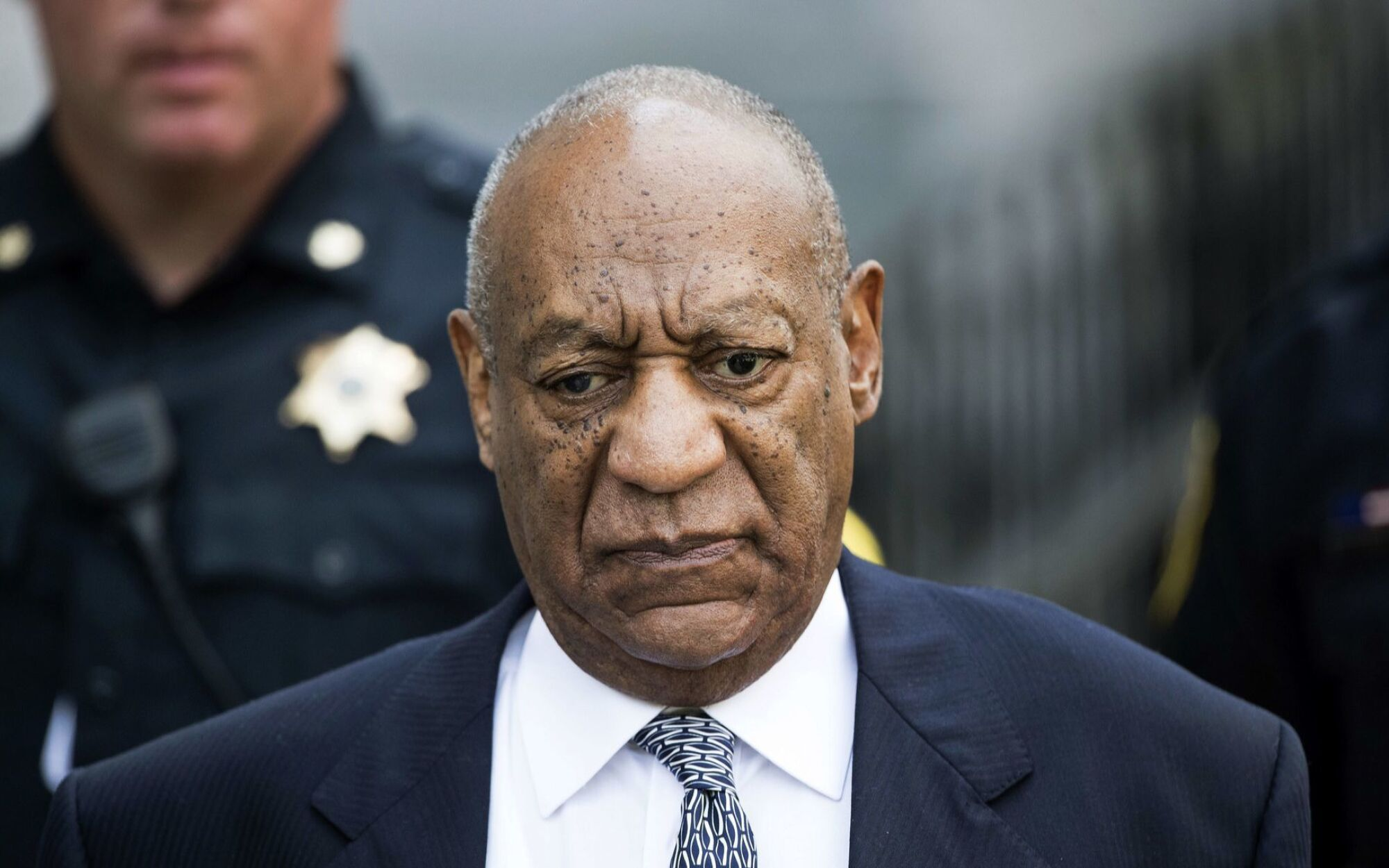 Bill Cosby leaves after a hearing in his sexual assault case in Norristown, Pa., in 2017.