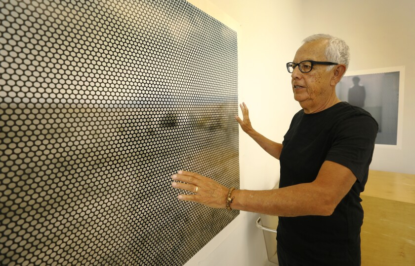Anthony Hernandez in his Jefferson Park studio.