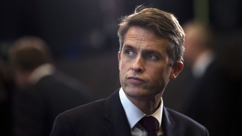 """Gavin Williamson is sacked. British Prime Minister Theresa May says she """"lost confidence"""" in the defense secretary."""