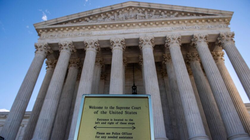 The U.S. Supreme Court on April 22 heard arguments in a case on whether gay and transgender workers are protected by a federal law that bars discrimination in the workplace.