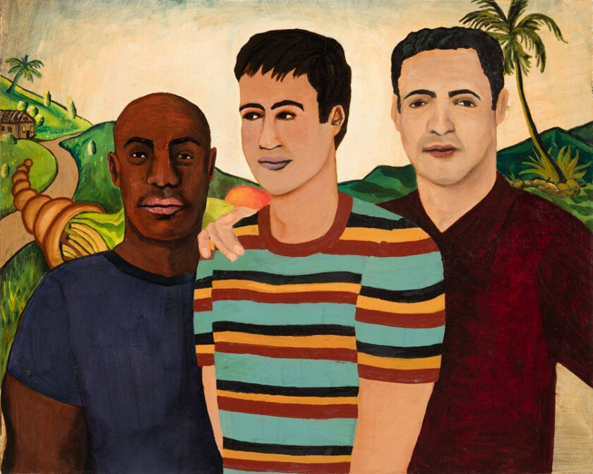 """Work by artist Joey Terrill is featured in the San Diego Art Institute exhibit """"Forging Territories: Queer Afro and Latinx Contemporary Art."""""""