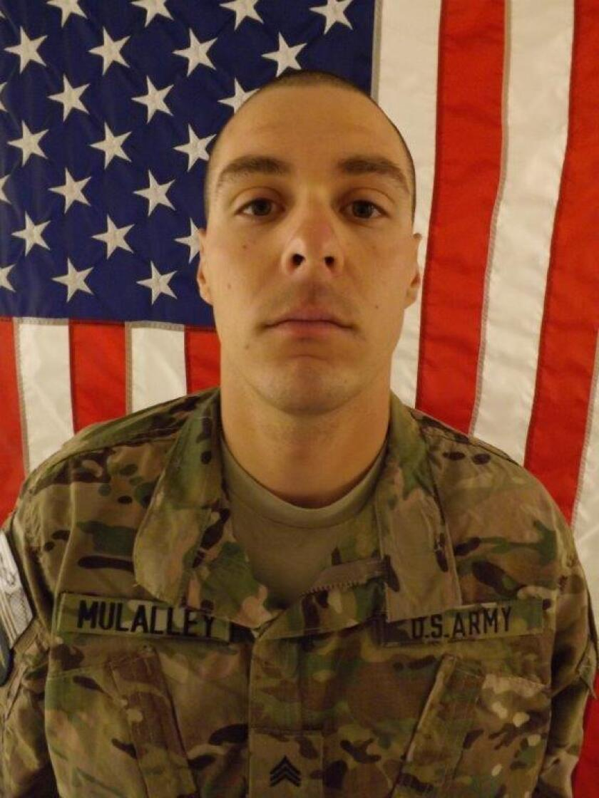 Sgt. Christopher Mulalley of Eureka, Calif., died Friday in Afghanistan in a non-combat incident.