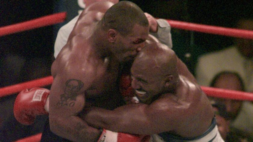 Biting an opponent's ear: Mike Tyson