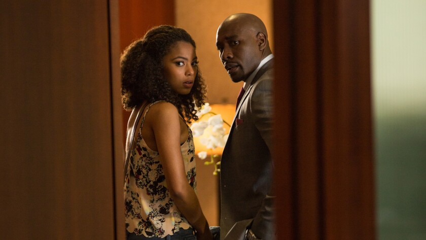 """Jaz Sinclair and Morris Chestnut star in """"When the Bough Breaks."""""""