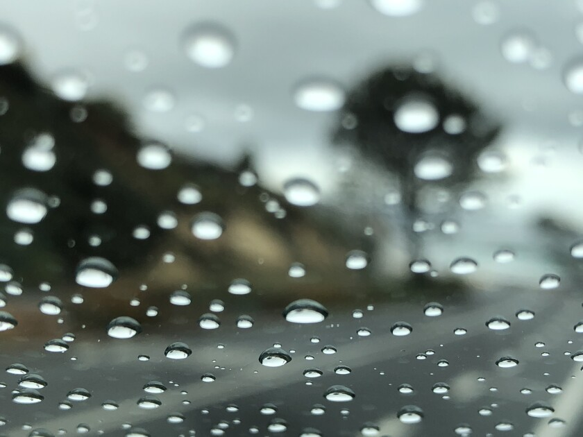 The weekend rains will last into the evening, making driving trickier.