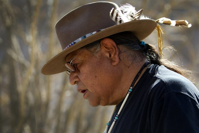 Anthony Pico, chairman of the Viejas band of Kumeyaay, attended the recent desert ceremony.