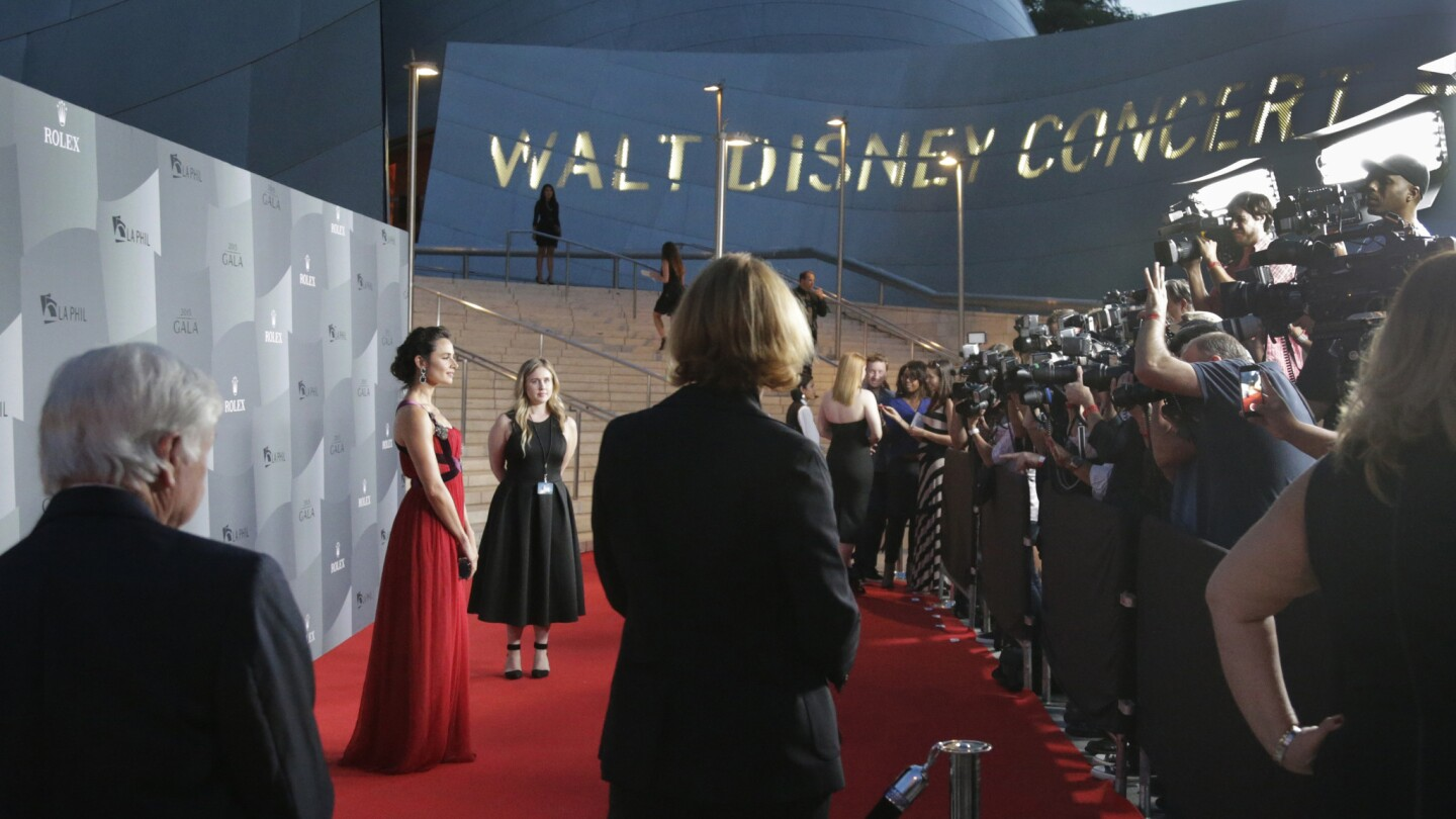 Actress Mia Maestro is on the red carpet Tuesday for Los Angeles Philharmonic's 2015 season opening at Walt Disney Concert Hall.