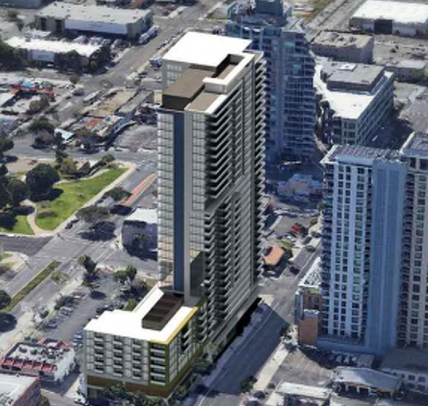 Aerial view of proposed Pinnacle Pacific Heights.