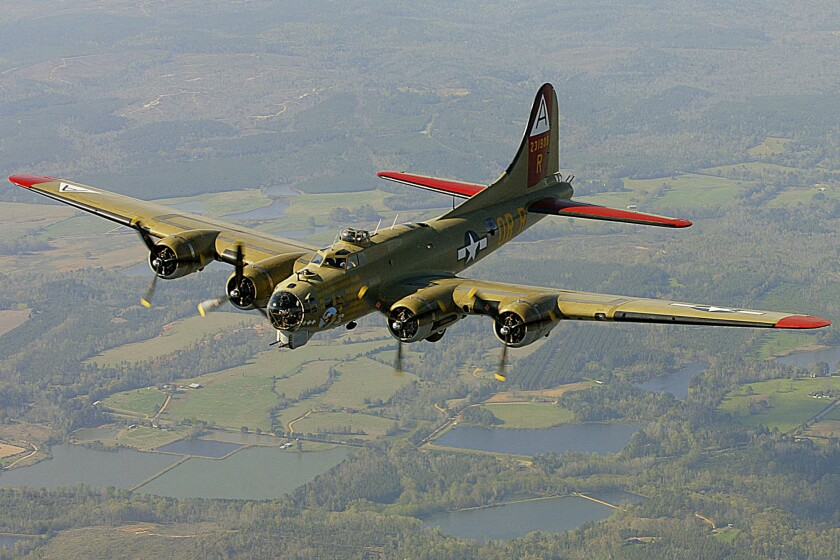 A B-17 Flying Fortress is seen in 2002