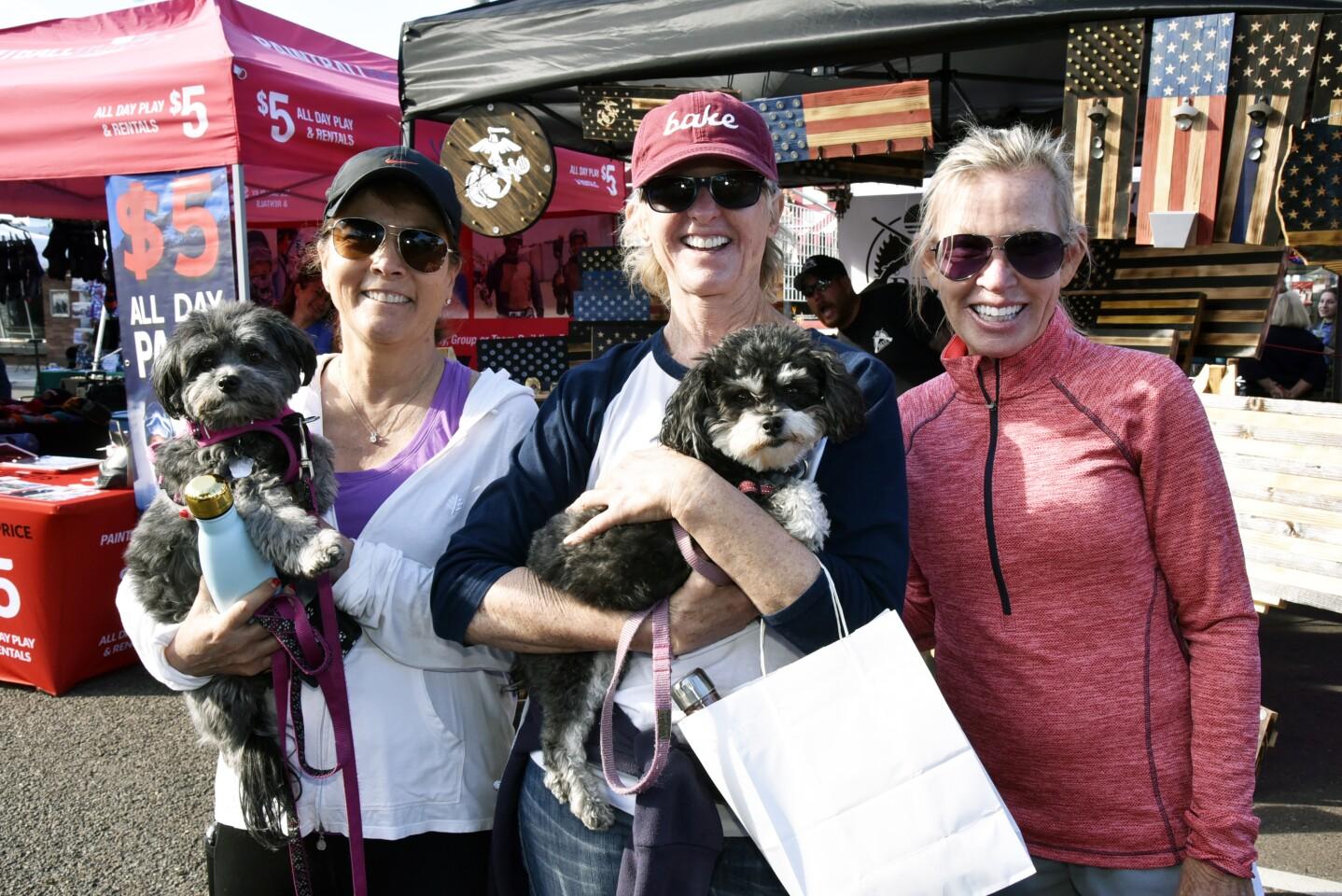 Sharon Nagy with Maya, Pam Snider with Havee, Mary Jo Wallo