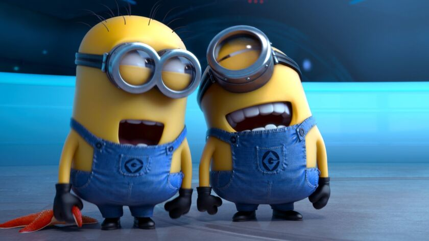 "FILE - This file photo provided by Universal Pictures shows the minion characters in the film ""Despi"