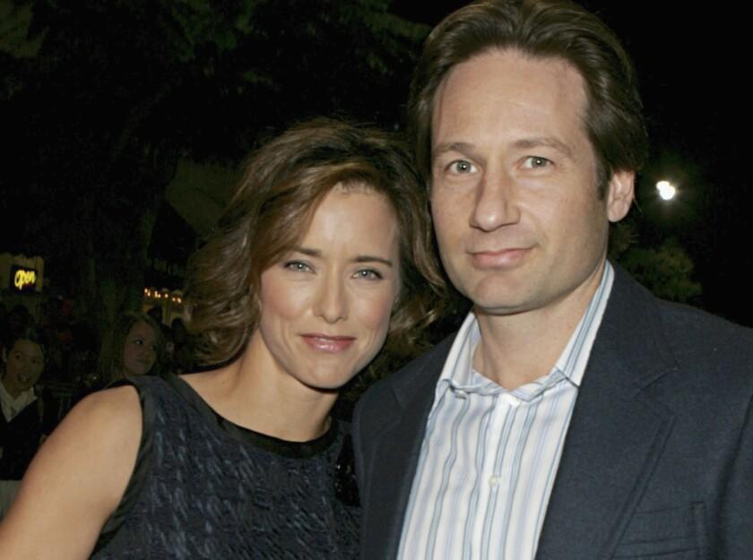 David Duchovny and Tea Leoni, shown in 2005, are divorced.