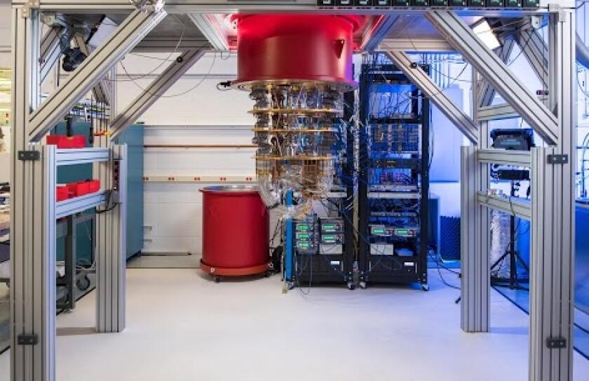 A Google quantum computer