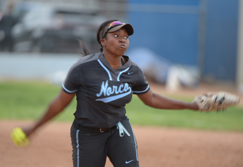 Sarah Willis of Norco has been the winning pitcher in the last two Southern Section Division 1 championship games.