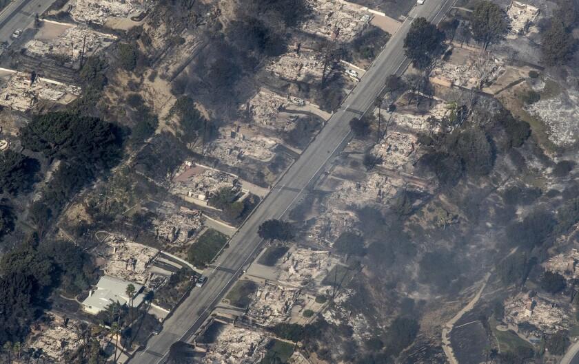 Thomas fire in Ventura County