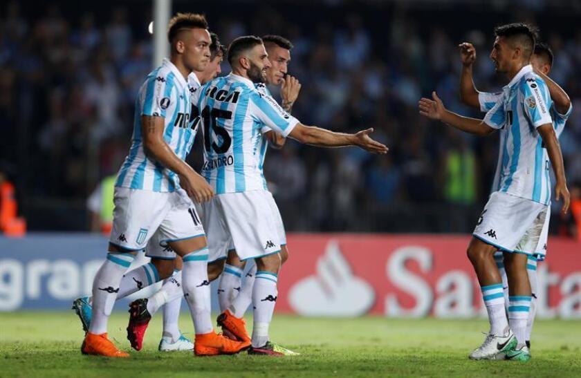 En la imagen, jugadores de Racing de Argentina. EFE/Archivo