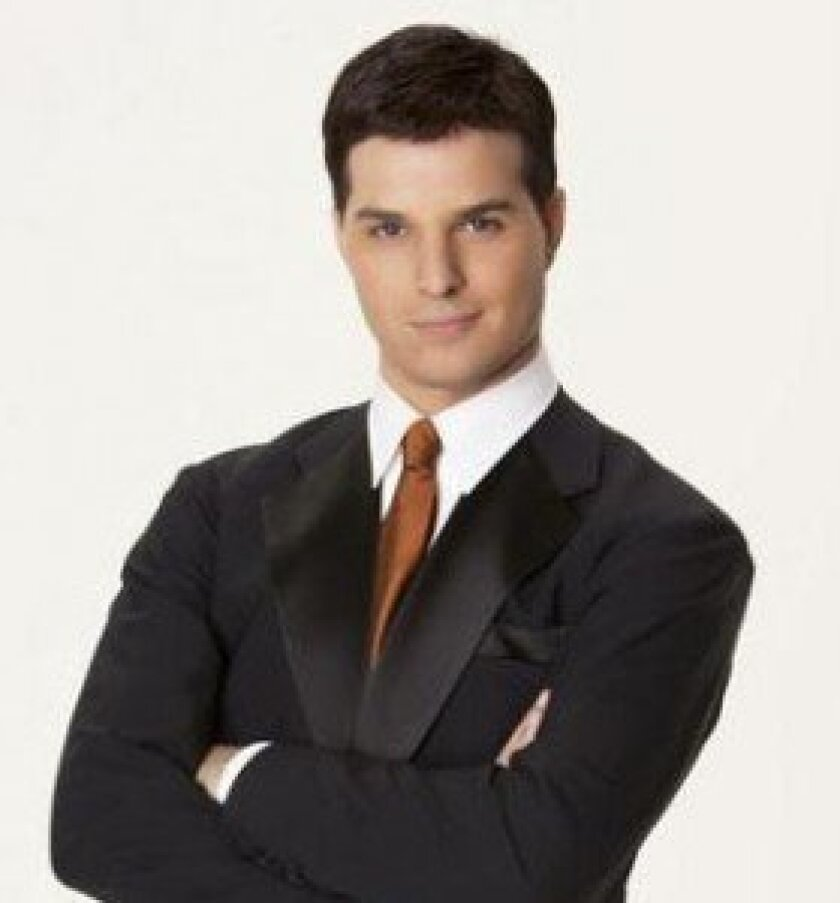 """Professional ballroom dancer and TV celebrity, Jonathan Roberts from ABC's """"Dancing with the Stars"""""""