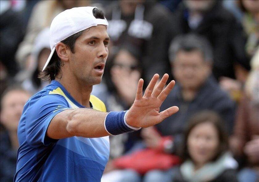El tenista español Fernando Verdasco, durante su partido de segunda ronda de Roland Garros. EFE