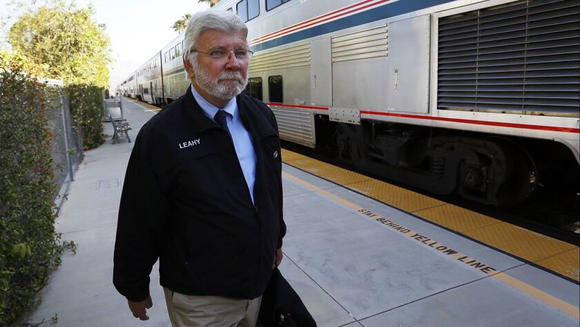 LOS ANGELES, CA JUNE 18, 2015 -- Metrolink's new CEO Art Leahy arrives at the Metrolink Chatswor