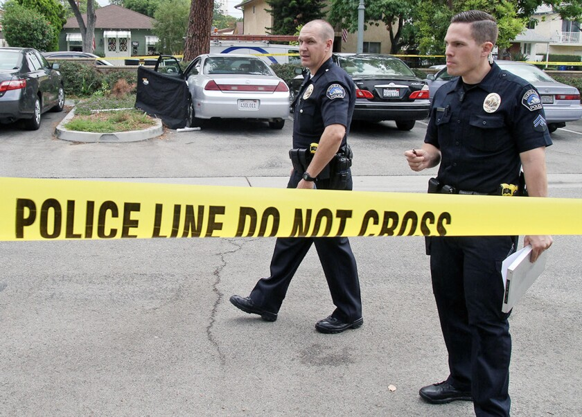 Burbank Police officer Justin Brodrick and Detective Aaron Key