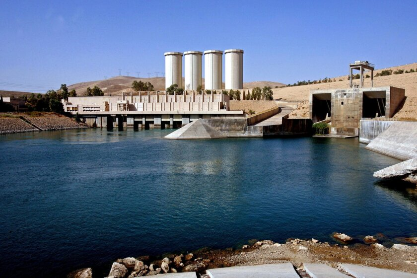 FILE - This Oct. 31, 2007 file photo, shows a general view of the dam in Mosul, 360 kilometers (225 miles) northwest of Baghdad, Iraq. An Italian engineering firm is set to ink a contract with the Iraqi government to begin shoring up the country's rickety Mosul dam. But engineering experts warn the