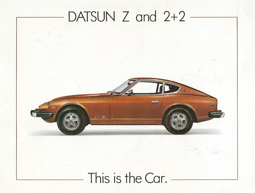 1975 Datsun Z and 2+2 brochure cover