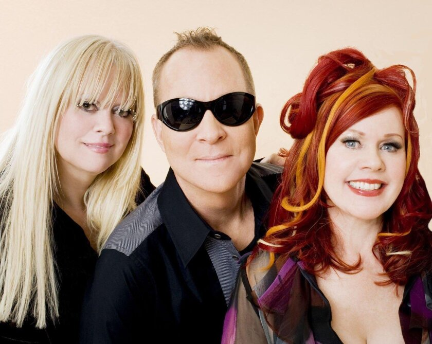 The B-52's, from left: Cindy Wilson, Fred Schneider and Kate Pierson.