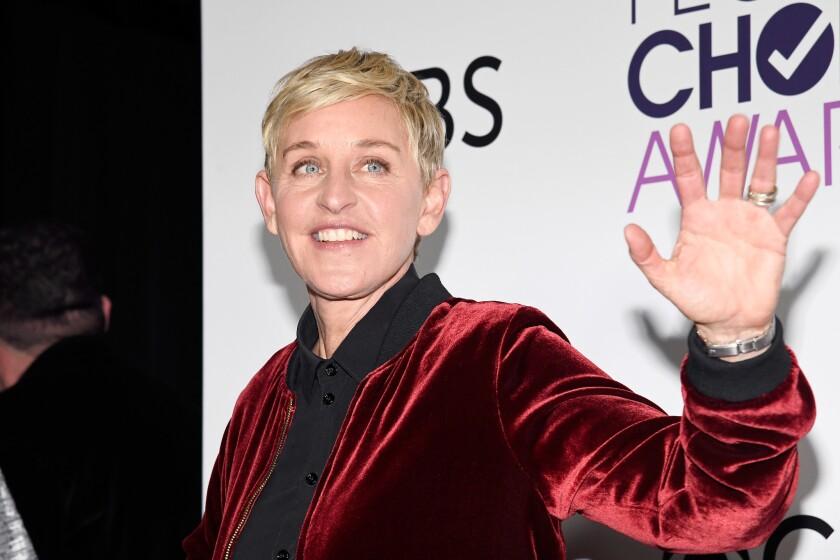 Ellen DeGeneres, seen in this 2017 photo, has given Seth Owen, a Georgetown-bound freshman, $25,000 for college expenses after his parents kicked out for being gay.