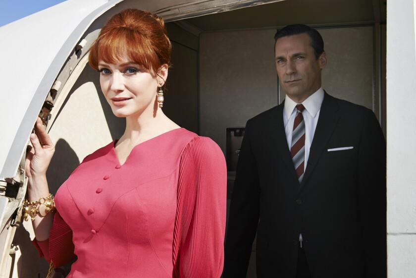 "Joan Harris (Christina Hendricks) and Don Draper (Jon Hamm) in ""Mad Men,"" Season 7."