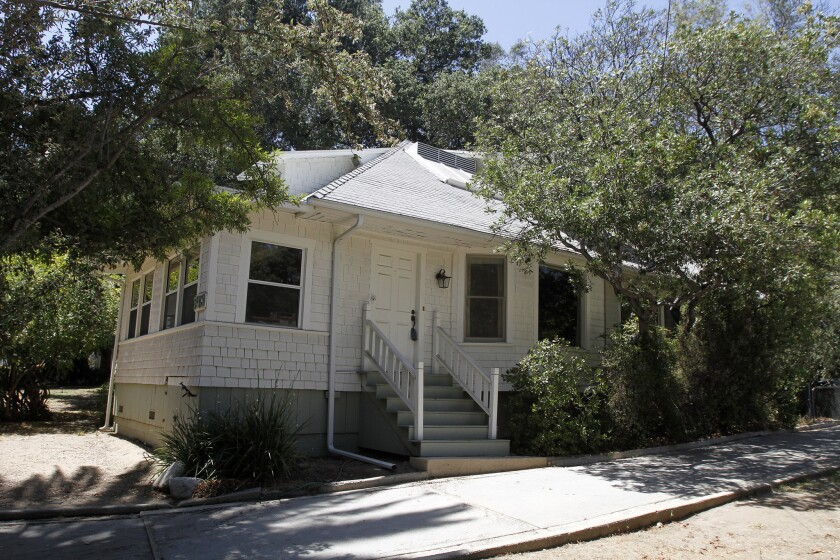 Dixi Gail Hall, who lived there in the 1940s, first published the La Cañada Valley Sun in one of the bedrooms in this 1908 farmhouse at the corner of Craig and Commonwealth avenues. The home was photographed in June 2014, when it was on the market. It has since been destroyed.