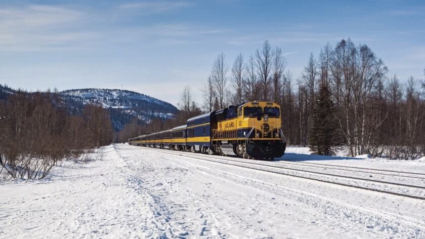 Alaska's Aurora Winter Train offers New Year's Eve trips between Anchorage and Fairbanks.