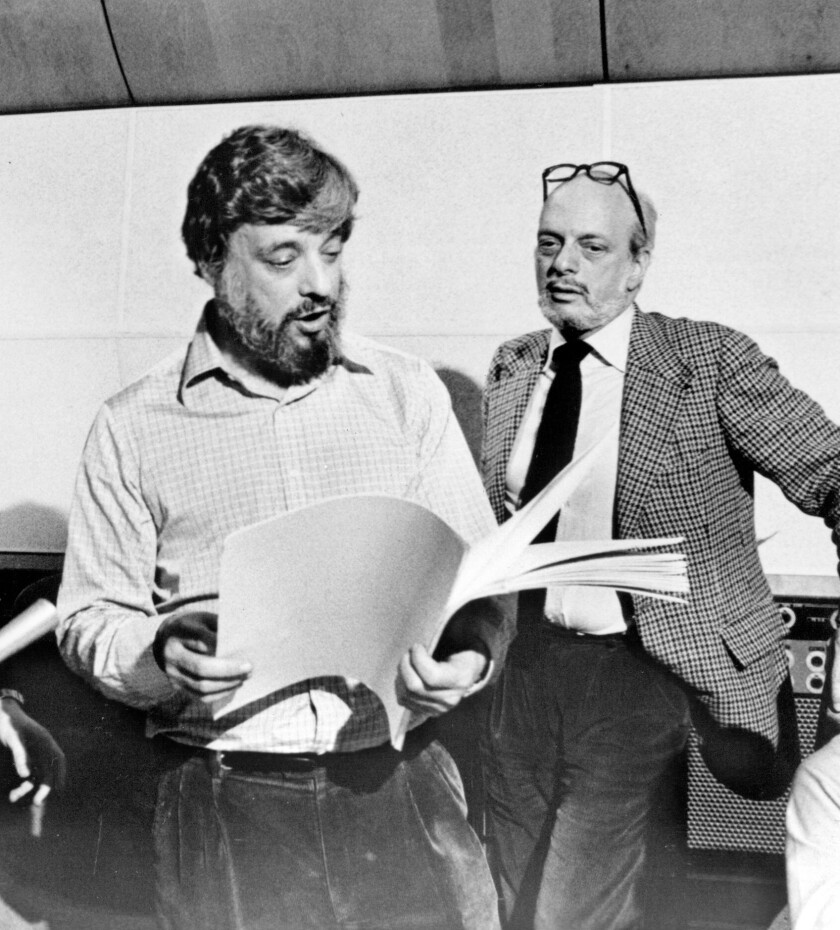Stephen Sondheim and director Harold Prince