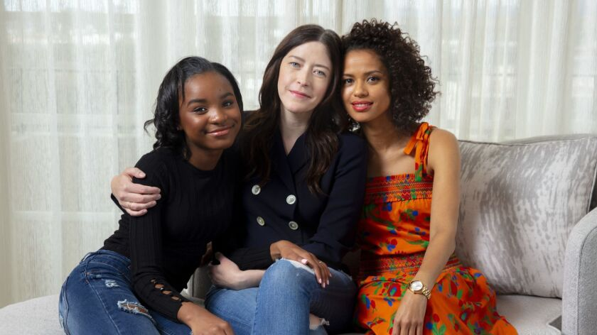 LOS ANGELES, CA --APRIL 03, 2019 --Film director Julia Hart, center is photographed with actresses S