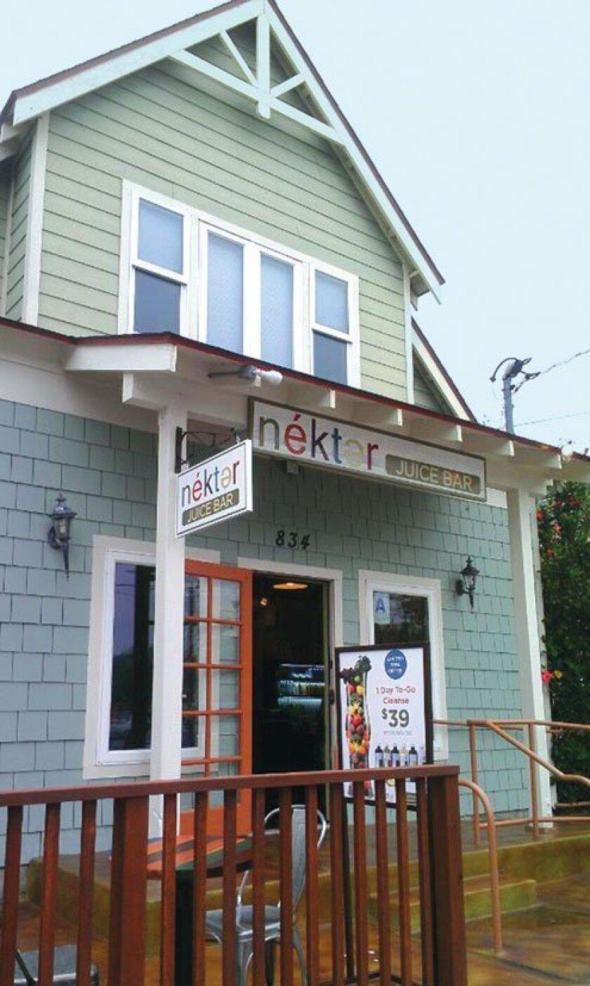 Nekter Juice Bar is located at 834 Kline St. in La Jolla.