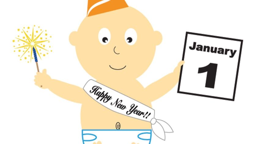 Happy New Year Calendar Baby