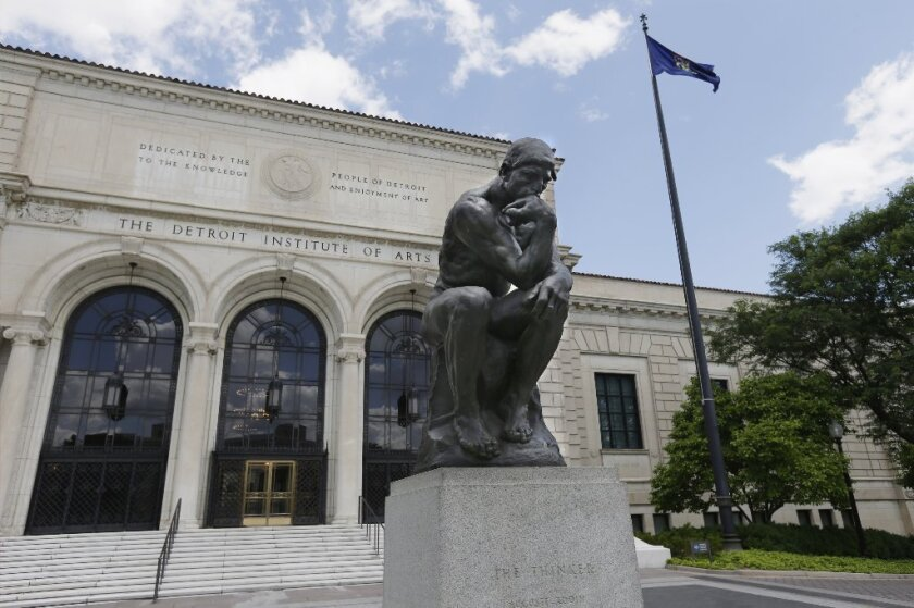 """The Detroit Institute of Arts acquired a cast of Rodin's """"The Thinker"""" in 1922."""