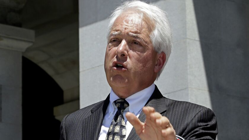 Republican gubernatorial candidate John Cox speaks at a news conference in Sacramento on June 18.